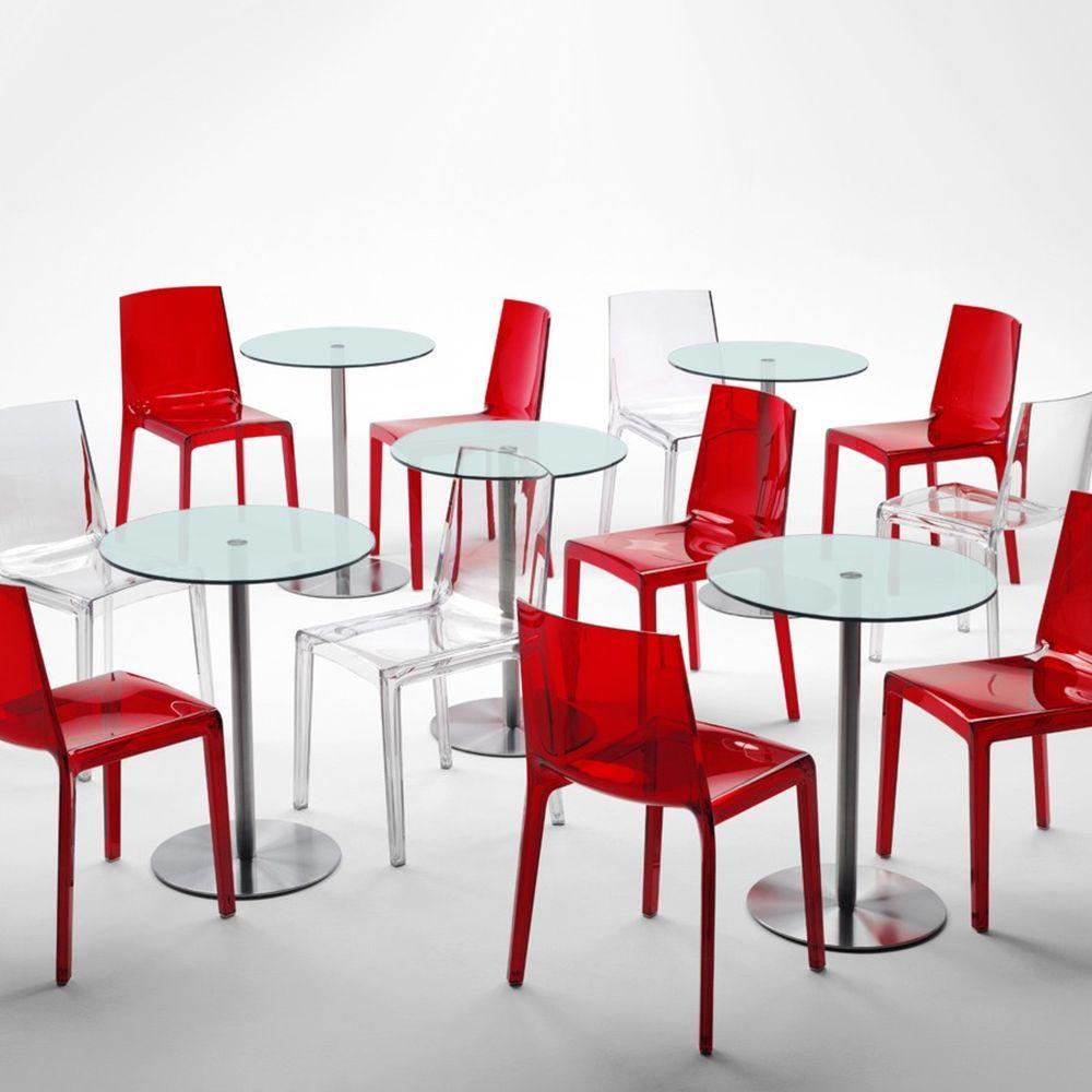 table basse ronde en verre desco caray eshop. Black Bedroom Furniture Sets. Home Design Ideas