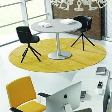 Round meeting tables with column base TREKO
