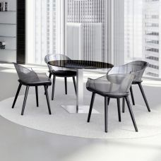 Glass round meeting tables TAY