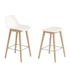 Fiber Bar Stool wood legs