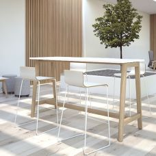 Table haute bois NET WOOD